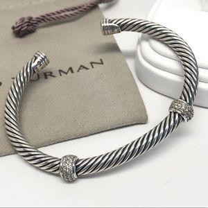 David Yurman 925/18K Double Station Bracelet
